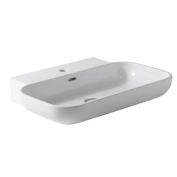 Alice Ceramica Neat Easy Pultra szerelhető mosdó 23110101  65x49 cm