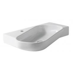 Alice Ceramica Neat Obliquo Pultra szerelhető mosdó 23120101  65x48 cm