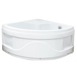 Sanotechnik Abs T25w akril magasított íves zuhanytálca  90x90x50 cm