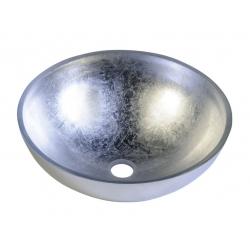 Sapho Murano Argento Pultra szerelhető üvegmosdó Al5318-52  40x13 cm