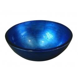 Sapho Murano Blu Pultra szerelhető üvegmosdó Al5318-65 40x13  cm