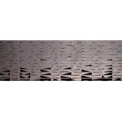 Azulev Vanity Bricks Platino Brillo szürke dekorcsempe 30 x 90 cm