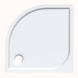 Aqualine Semi HQ558R öntött márvány íves zuhanytálca 80x80x3  cm