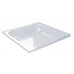 Aqualine PD70x70 fehér lemez szögletes zuhanytálca 70x70x12  cm