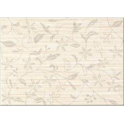 Cersanit Tanaka Cream Inserto Flower dekorcsempe 25x35 cm