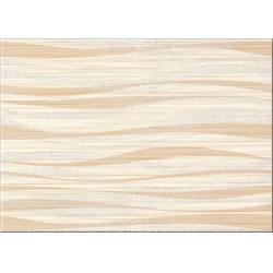 Cersanit Tanaka Cream Inserto Geo dekorcsempe 25x35 cm