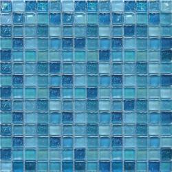 Aqua 20x20x8 mm üvegmozaik