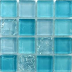 Azuline 25x25x8 mm üvegmozaik
