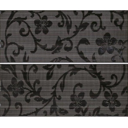 Color Crypton Glam Black 2 részes dekorcsempe 25x60 cm