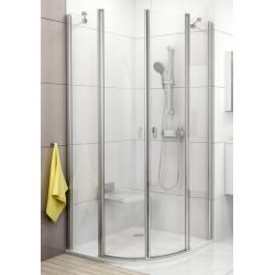 Ravak Chrome CSKK4 Íves, négyrészes, negyedköríves kifelé és befelé nyíló zuhanykabin 80 cm
