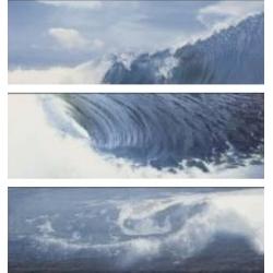 Azulev Solid Decor Surfer Azul 3 részes dekorcsempe 20 x 60 cm