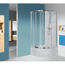 Sanplast KP4-kpl/TX5/165 negyedköríves, mélytálcás sarok zuhanykabin 80 cm
