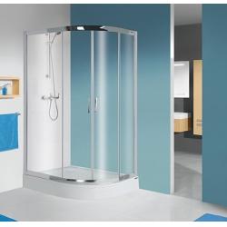 Sanplast kpl-L(P)-KP4/TX5 negyedköríves sarok aszimmetrikus zuhanykabin 90x120 cm
