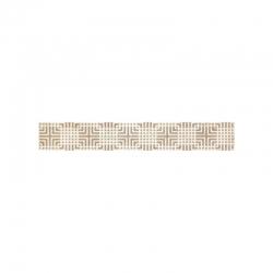 Kwadro Capella Geometryk Brown dekorcsík 4,8 x 25 cm