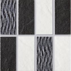 Marazzi Naturalstone M6QP Mosaico Naturalstone White / Naturalstone Black mozaik 10 x 10 cm