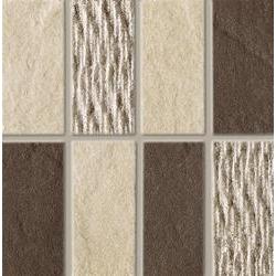 Marazzi Naturalstone MF4P Mosaico Naturalstone Brown / Naturalstone Beige mozaik 10 x 10 cm