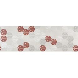 Marazzi Oficina7 MKUX Decoro Bianco / Grigio / Rosso / Antracite dekorcsempe 32,5 x 97,7 cm