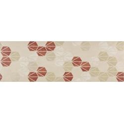 Marazzi Oficina7 MKUZ Decoro Beige / Rosso / Tabacco dekorcsempe 32,5 x 97,7 cm