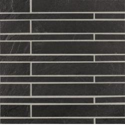 Marazzi Stonehenge MKZ4 Stonehenge Black üvegszálas ragasztott mozaik 30 x 30 cm