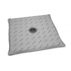 Radaway 5CK0808 burkolható négyzet alakú zuhanytálca  padlóösszefolyóval 79x79 cm