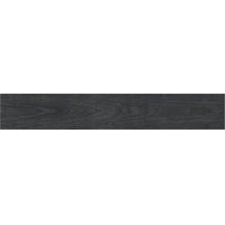 Porcelanosa Tablon Antracita P-R rektifikált gres fahatású falicsempe és padlólap 19,3x120 cm