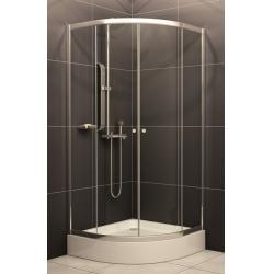 H2O Projecta íves zuhanykabin, zuhanytálcával, szifonnal 80 cm