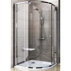 Ravak Pivot PSKK3 Íves, háromrészes, negyedköríves, kifelé nyíló zuhanykabin 100 cm
