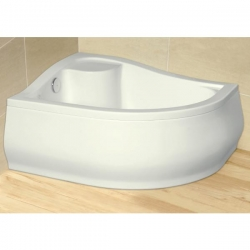 Radaway Korfu E 4E81400-03L akril balos magasított  aszimmetrikus zuhanytálca 100x80x39,5x24 cm