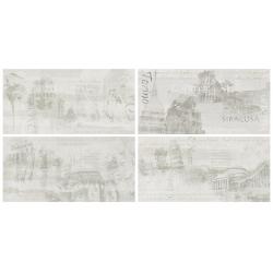 Rondine Icon Light History Mix J85252 4 részes dekorcsempe 30x60 cm