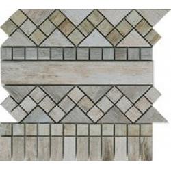 Rondine Metalwood Grey Fascia J84377 dekorcsempe 30,5x30,5 cm