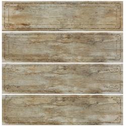 Rondine Metalwood Musk Bordo Mix J84373 4 részes dekorcsempe 15x61 cm