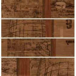 Rondine Tabula Tracce Marron Listone J84384 4 részes dekorcsempe 15x61 cm