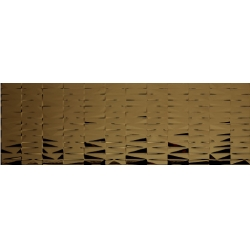 Azulev Vanity Bricks Oro Brillo barna dekorcsempe 30 x 90 cm
