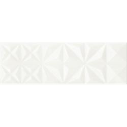 Opoczno White Magic White Glossy Squares falicsempe 25x75 cm