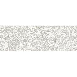 Opoczno Pret a Porter White Inserto Flower 25x75 cm