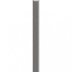 Kwadro Listwy szklane Grafit dekorcsík 2,3 x 25 cm