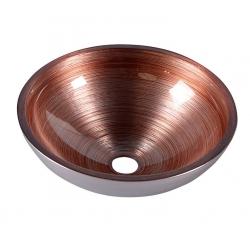 Sapho Murano Wenge  AL5318-66 Pultra szerelhető üvegmosdó 40x13 cm