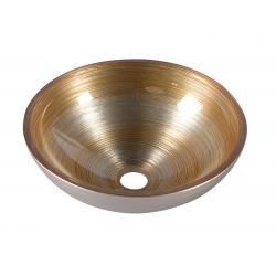 Sapho Murano Soft Brown AL5318-67 Pultra szerelhető üvegmosdó 40x13 cm