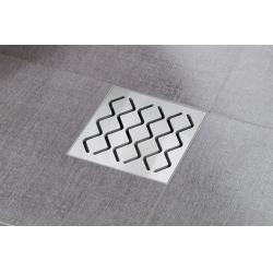 Ravak SN501 hullámmintás padlóösszefolyó 10,5x10,5 cm