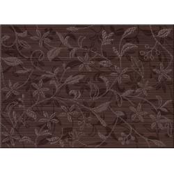 Cersanit Tanaka Brown Inserto Flower dekorcsempe 25x35 cm