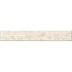 Cersanit Tanaka Cream Border Flower dekorcsík 5x35 cm