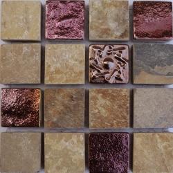 Belize 23x23x8 mm kő mozaik