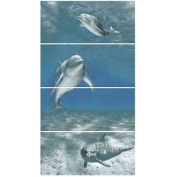 Novogres Goa Delfin-4 4 részes dekorcsempe 27 x 60 cm