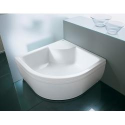 Kolpa San Dixie akril magasított íves zuhanytálca 90x90x30cm