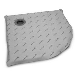 Radaway 5AK0808 burkolható félköríves zuhanytálca  padlóösszefolyóval 79x79 cm