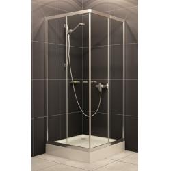 H2O Projecta szögletes zuhanykabin, zuhanytálcával, szifonnal 80 cm