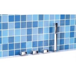 Sapho IFTECH4 4 részes termosztátos kádperemre szerelhető kád csaptelep
