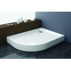 Kolpa San Malur akril jobbos aszimmetrikus zuhanytálca  100x80x4 cm