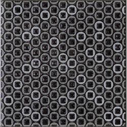 Marazzi Naturalstone M6QU Inserto Naturalstone White / Naturalstone Black dekorcsempe 10 x 10 cm
