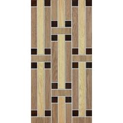 Marazzi Treverk M7XD Decoro Treverk Beige / Teak / Wengé üvegszálas ragasztott mozaik 30 x 60 cm